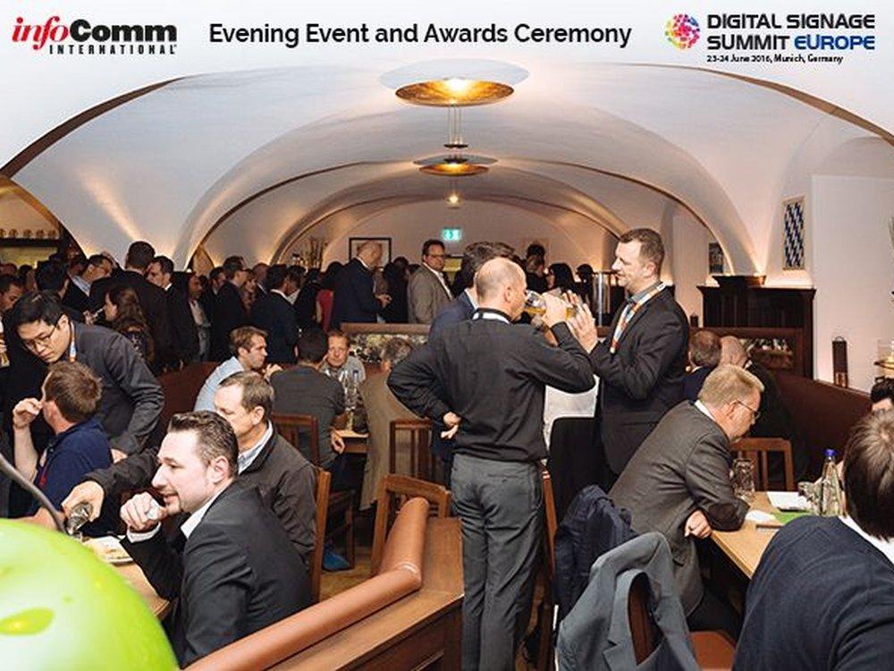 Abendveranstaltung und Preisverleihung beim DSS Europe (Foto: invidis)