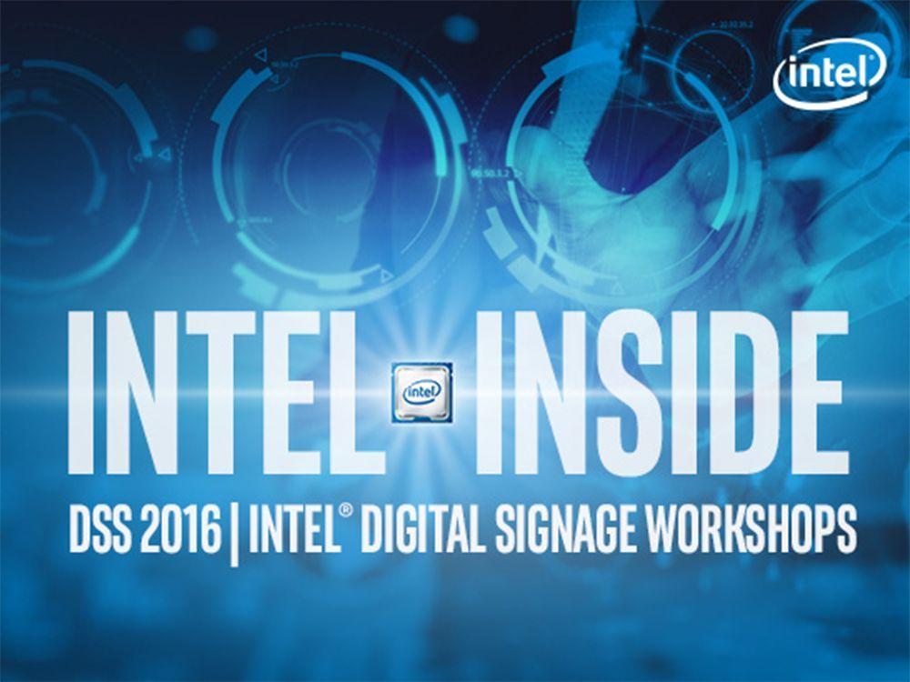 Beim DSS Europe 2016 finden zwei Digital Signage Workshops von Intel statt (Grafik: Intel)