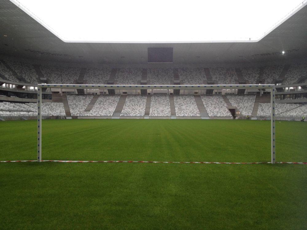 Blick auf einen der beiden neuen LED Screens (Foto: Stade Matmut Atlantique)