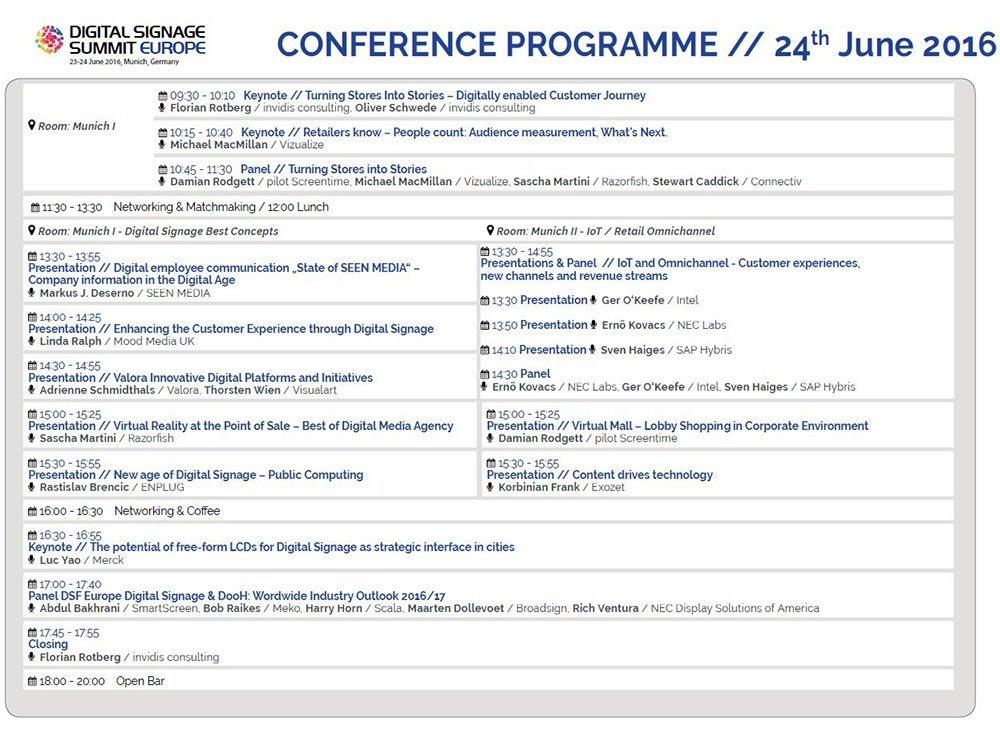 Programm Update zum DSS Europe 2016 (Grafik: invidis)