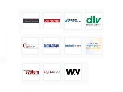 Diese Medienpartner unterstützen den DSS Europe 2016 (Logos: Unternehmen; Grafik: invidis)