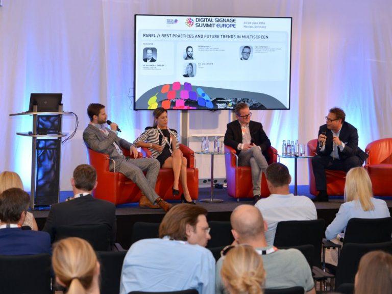 Diskussion beim Multiscreen Panel auf dem DSS Europe 2016 (Foto: Frank-Dietmar Böhm)