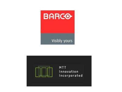 Durch den Zukauf MTT Innovation investiert Barco weiter in die Entwicklung (Logos: Barco, MTT Innovation Inc.)