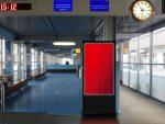 Geplanter Screen am Zugang Gornergrat Bahn (Foto/ Rendering: APG|SGA)