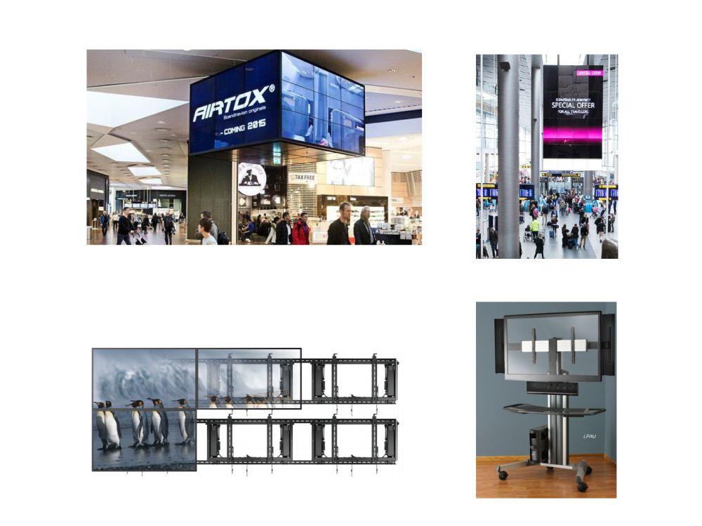 Installationen am Flughafen in Kopenhagen mit ConnexSys - rechts unten Mobile Car aus der Fusion Serie (Fotos: Chief)