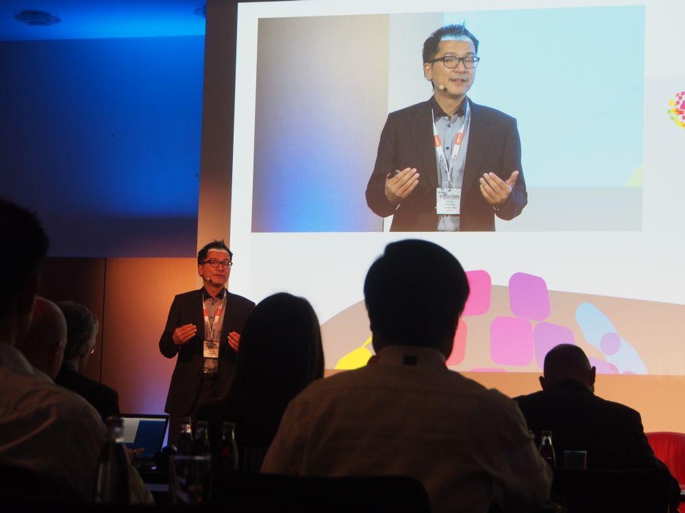 Luc Yao von Merck bei der Schluss-Keynote des DSS Europe 2016 (Foto: invidis)