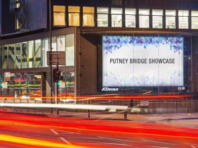 Putney Bridge Showcase - neuer Standort mit zwei großen DooH Screens (Foto: JCDecaux)