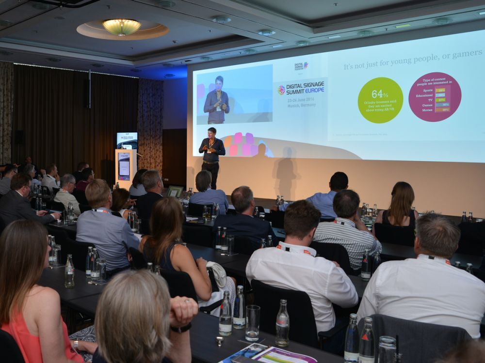 Sascha Martini beim Digital Signage Summit Europe 2016