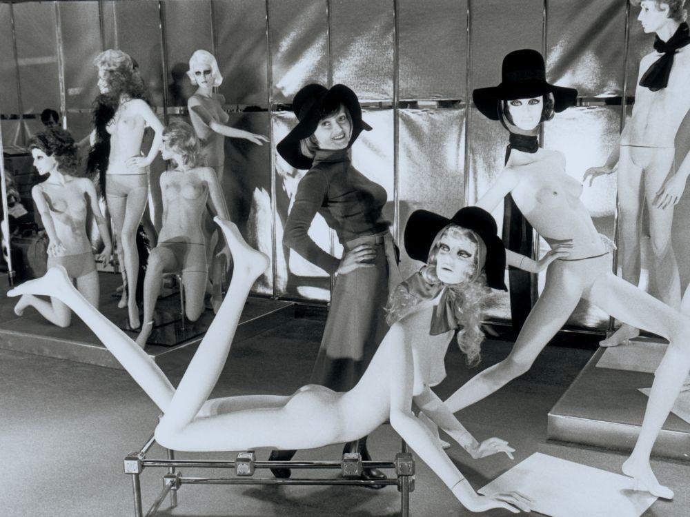 Vorläufer der EuroShop - Fotomodell und Display Mannequins im Jahr 1966 (Foto: Messe Düsseldorf)