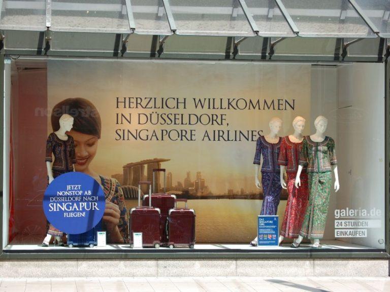 Aktuelle Kampagne für Singapore Airlines (Foto: 744 Werbeagentur GmbH)