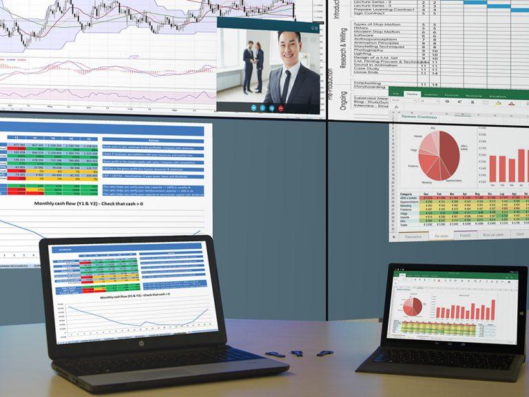 CoScape ermöglicht drahtlose Präsentationen (Foto: VuWall)
