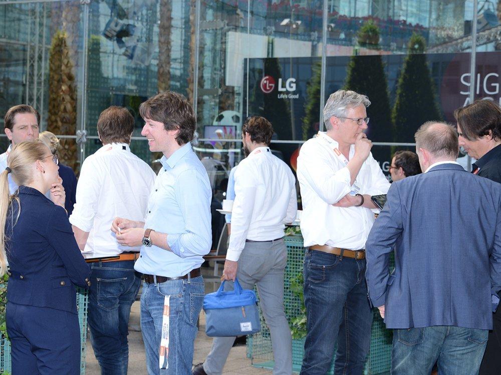Teilnehmer des DSS Europe 2016 beim Networken (Bild: Frank-Dietmar Böhm)