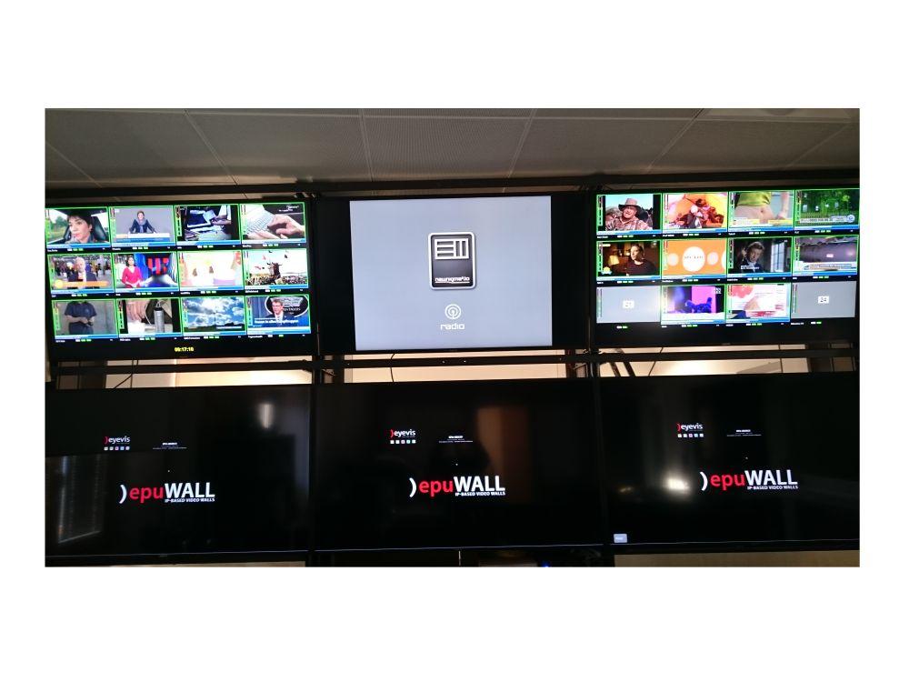 Die Video Wall besteht aus zwei Reihen (Foto: eyevis)