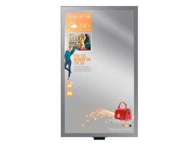 Im Portrait Modus genutztes Mirror Display ML55E (Foto: Samsung)