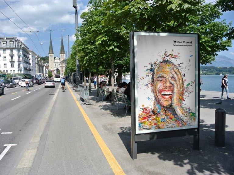 In Luzern hat der Außenwerber neue attraktive Standorte hinzugewonnen (Foto: Clear Channel Schweiz)