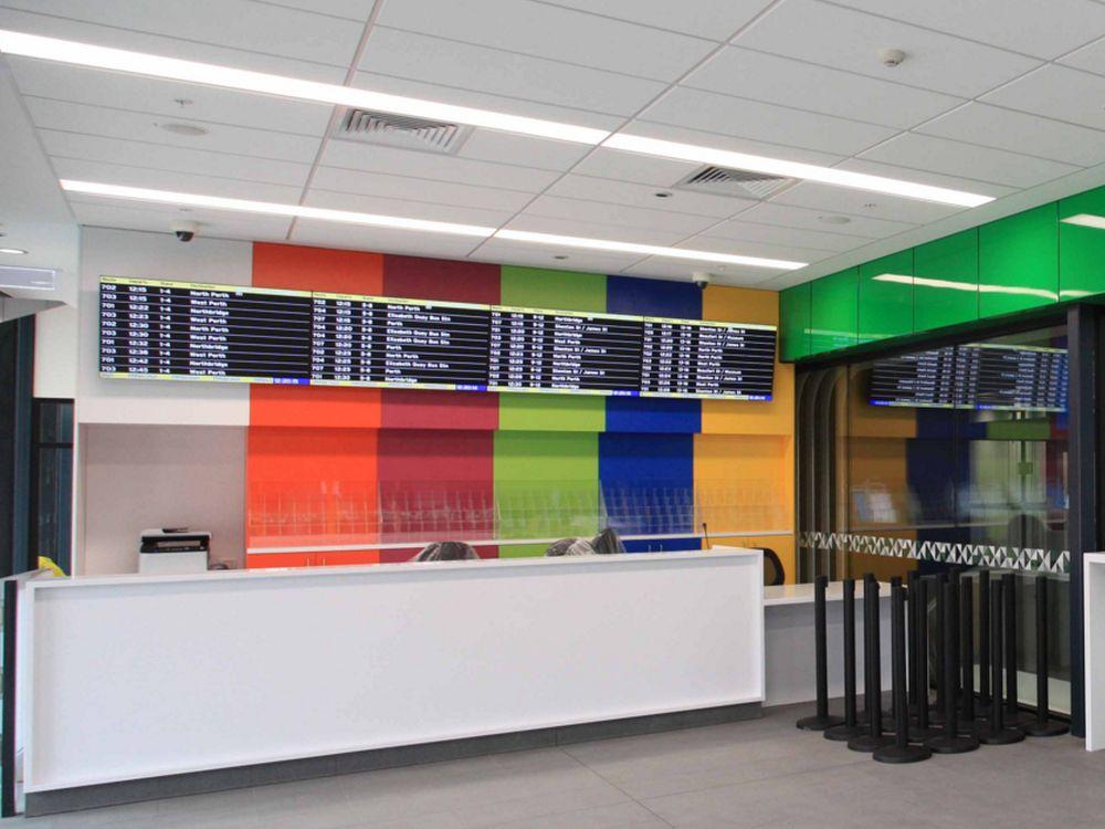 Info Counter des neuen Bus-Bahnhofs im Mai 2016 (Foto: Perth City Link)