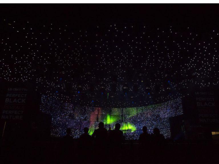 Nordlichter im Konzertsaal: Höhepunkt der LG-Werbekampagne für OLEDs (Foto: LG)