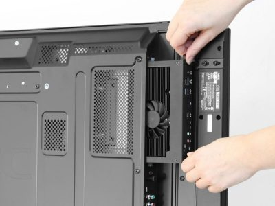 Large Format Screen mit OPS Mediaplayer (Foto: NEC)