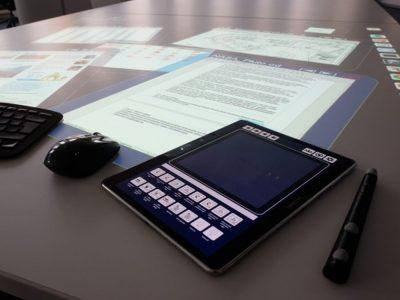 Mit der Middleware VD1 arbeitender, komplett digitaler ProTable des des Fraunhofer IAO (Foto: Fraunhofer IAO)
