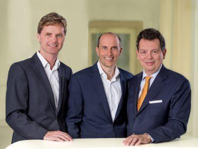 Die Geschäftsführung von PREX (von links): Manfred Klaus, Julian Simons und Andrea Malgara (Foto: Serviceplan)