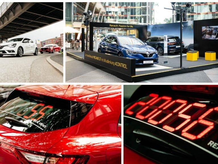 Renault bewirbt seine neuen Modelle mit einem Gewinnspiel, bei dem die Blickkontakte erraten werden müssen (Foto: Onicom Media Group)