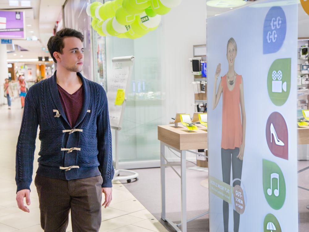 Virtual Promoter im Einsatz für eine Mobilfunkmarke (Foto: Ameria)