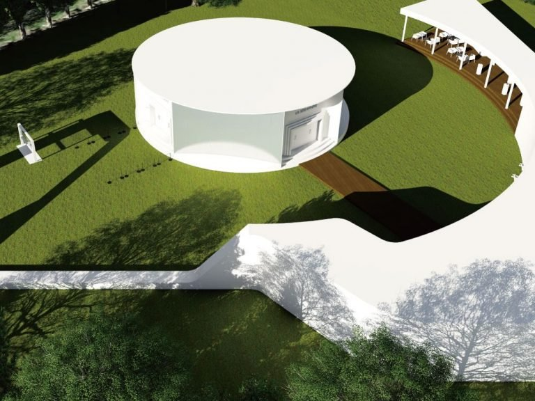 Blick auf den geplanten LG SIGNATURE Pavillon (Foto / Rendering: LG)