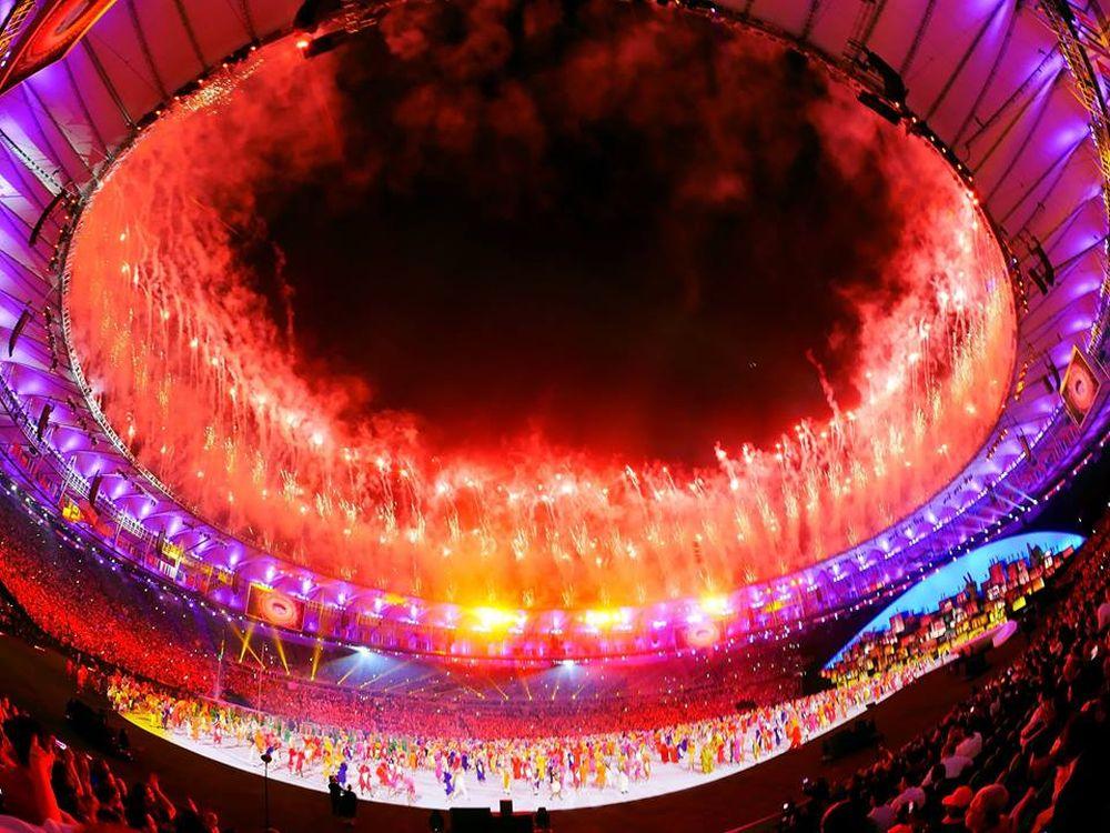 Das Estádio do Maracanã bei der Eröffnungsfeier für Olympia 2016 (Foto: Panasonic UK)