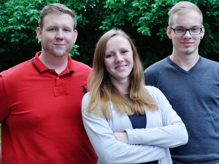 Haben bei pilot angedockt (v.l.n.r.) - Marcel Annen, Monica Seifert, Hendrik Hack (Foto: pilot Computerhandels GmbH)