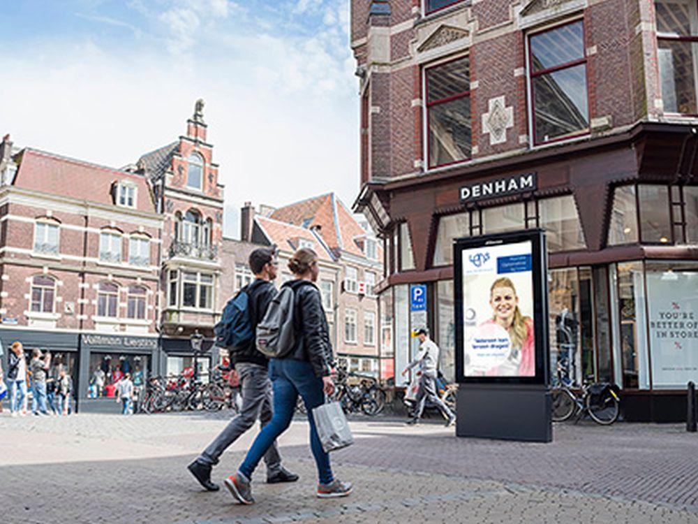 In der Innenstadt von Utrecht installierte der Außenwerber nun den ersten 84 Zoll Screen (Foto: JCDecaux)