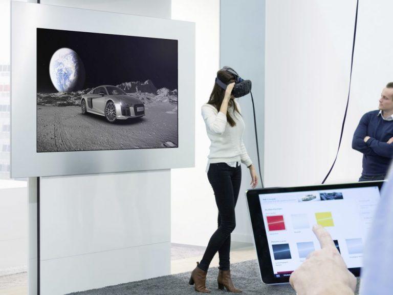 Interaktion und VR im myAudi Sphere (Foto: Audi AG)