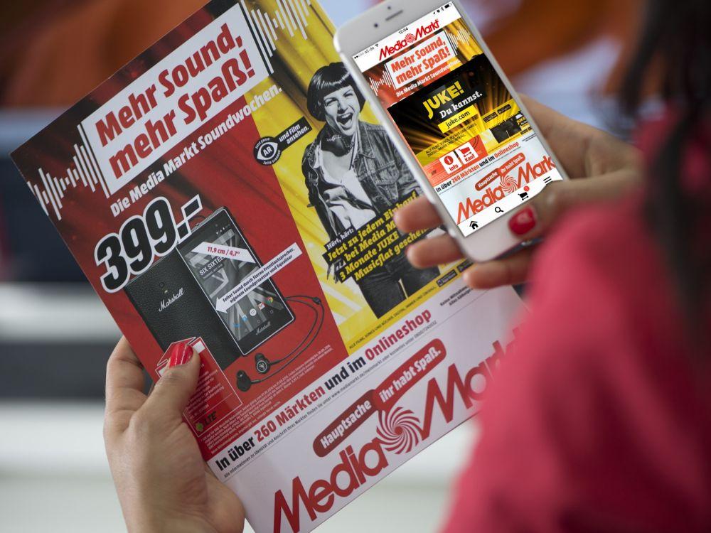 Media Markt Soundwochen Flyer mit Augmented Reality Funktion (Foto: Media Markt)