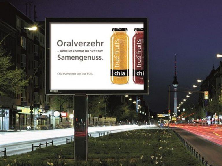 Motiv der true fruits Plakatkampagne (Foto: true fruits)
