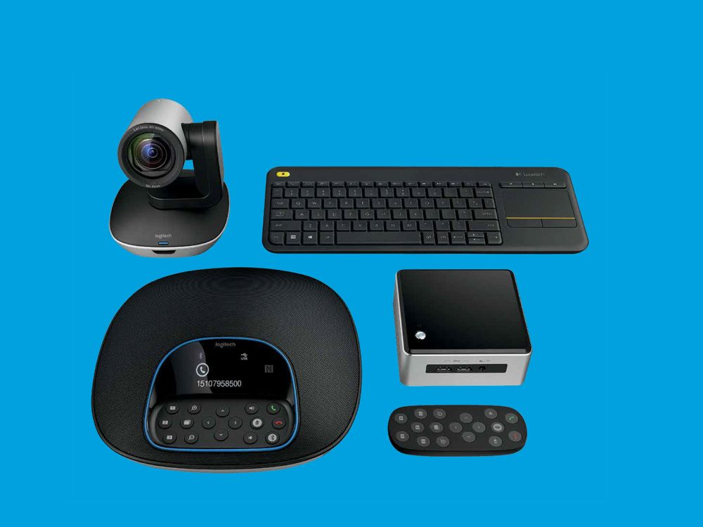 Neue Collaboration Lösung Logitech GROUP Kit with Intel NUC