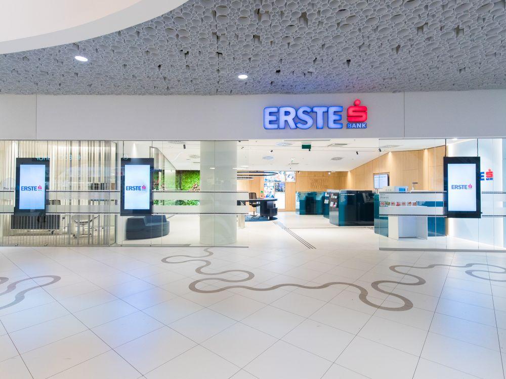 Neue Filiale in Wien-Mitte - Blick auf den Eingangsbereich (Foto Erste Bank / Hinterramskogler)