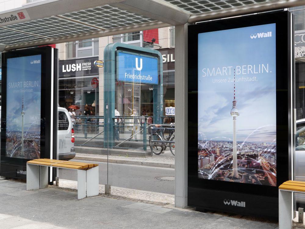 Smartes Berlin, Smart City als Trend - JCDecaux Tochter Wall startet neues DooH Netz in Berlin (Foto: Wall)
