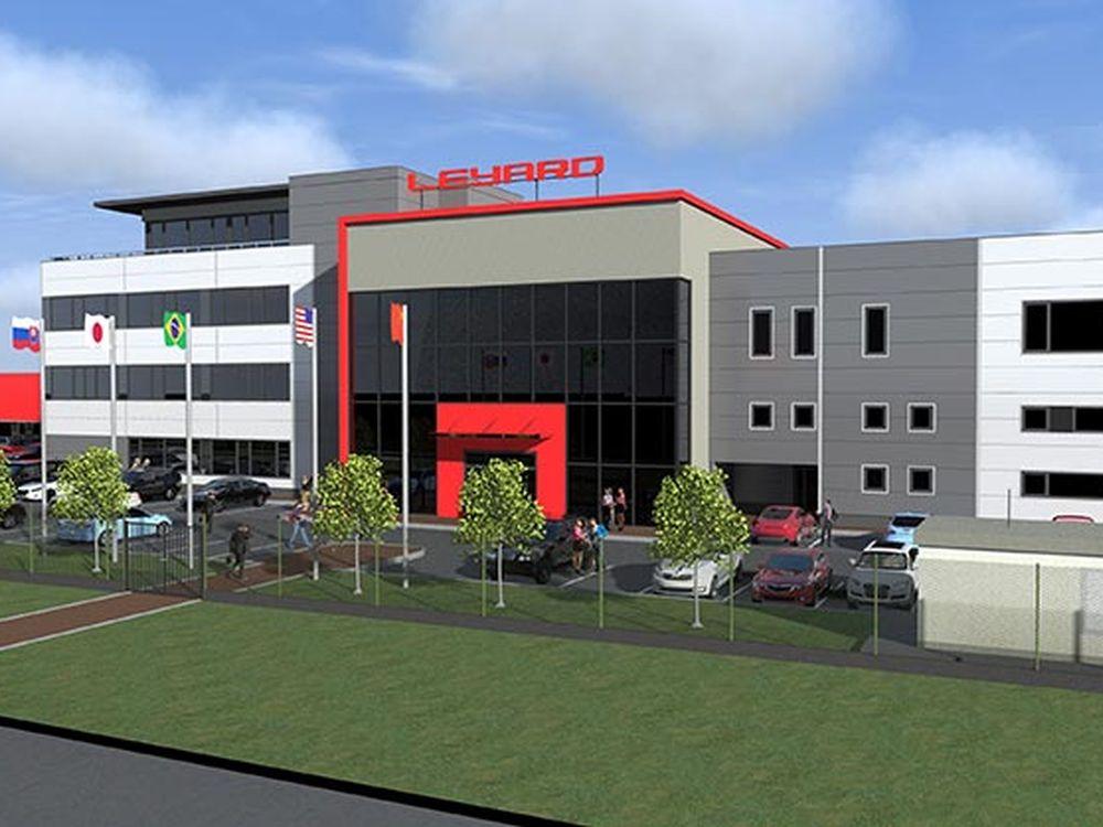 So wird die neue Fabrik von Leyard ausschauen (Foto/ Rendering: Leyard)