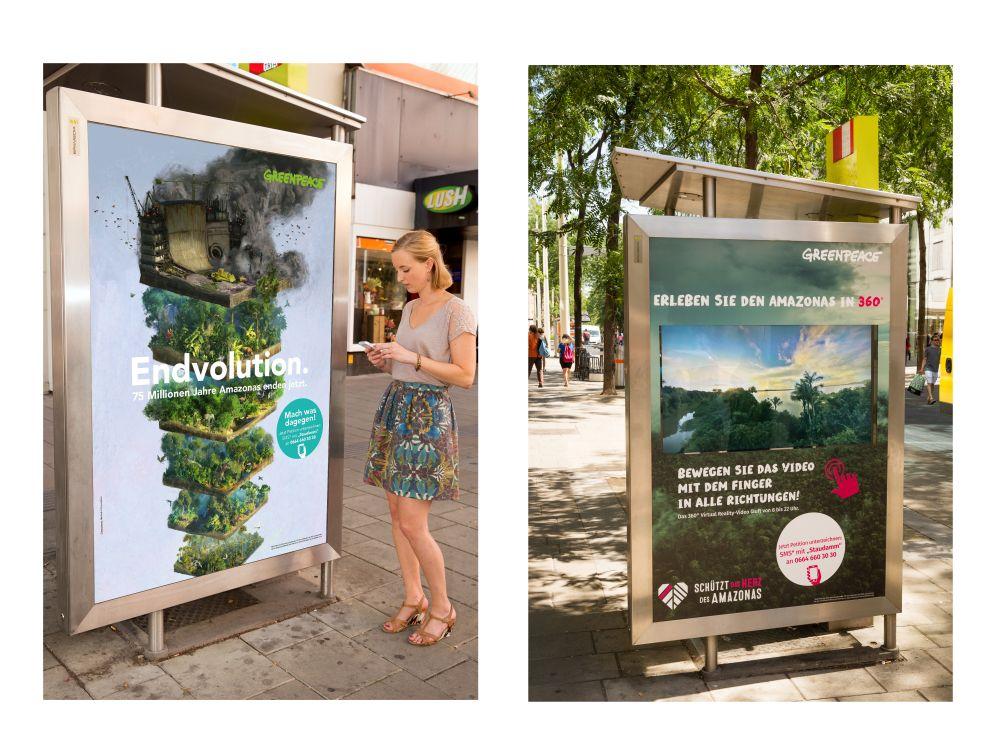 Von links - herkömmliches CLP und interaktives digitales Citylight (Fotos: Epamedia)