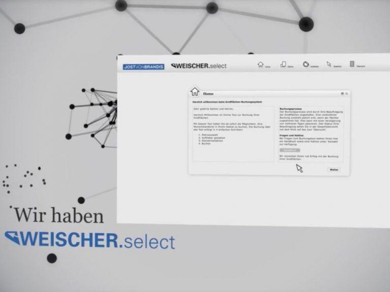 Werbevideo für Weischer.select (Screenshot: invidis)