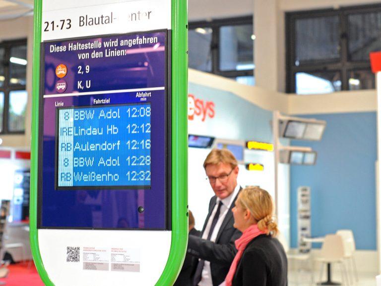 Dynamische Reisendeinformationen (Foto: Innotrans)