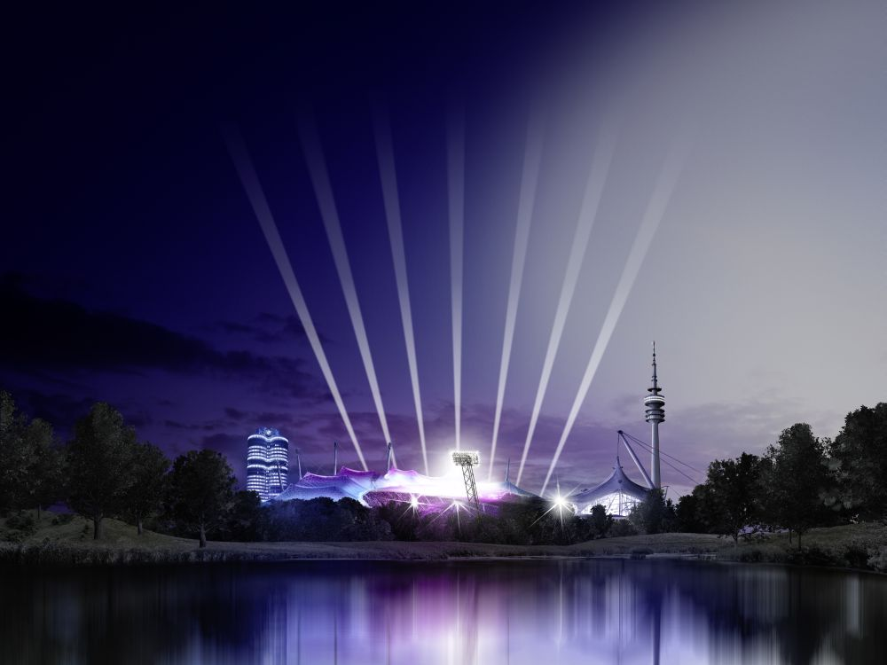Am letzten Wochenende feierte BMW im Olympiastadion seinen Hundertsten (Foto/ Rendering: BMW Group)