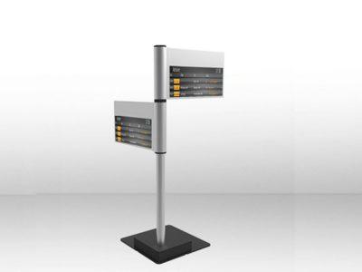 Beispiel für ein Fahrgast-Informationsystem aus LED Modulen (Rendering: eyevis)