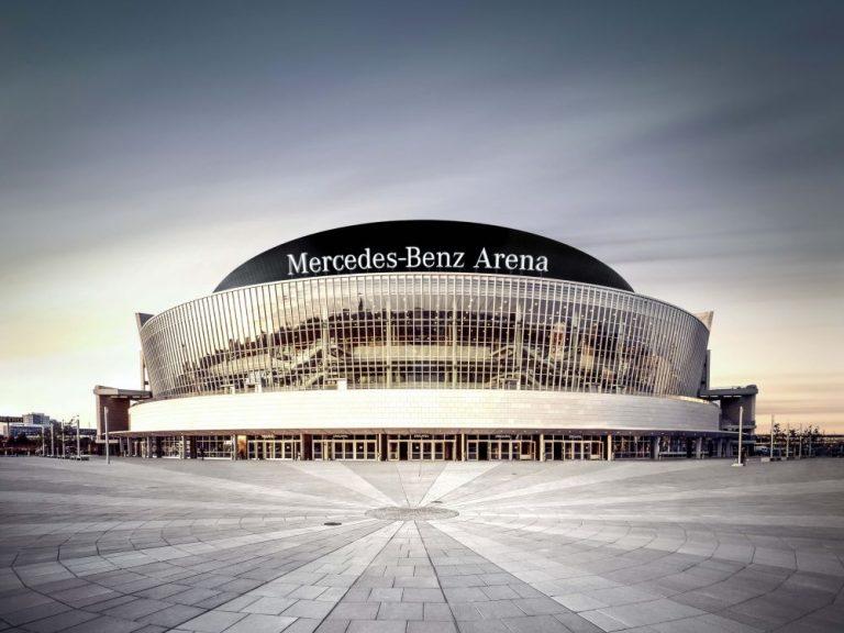 Blick auf die Mercedes-Benz Arena in Berlin (Foto: Anschutz Entertainment Group)