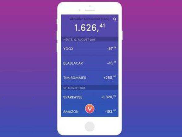 Blick auf die geplante Yomo App der deutschen Sparkassen (Screenshot / Grafik: Stadtsparkasse München)