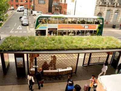 Bus Shelter of the Future in Manchester (Foto: TfGM)