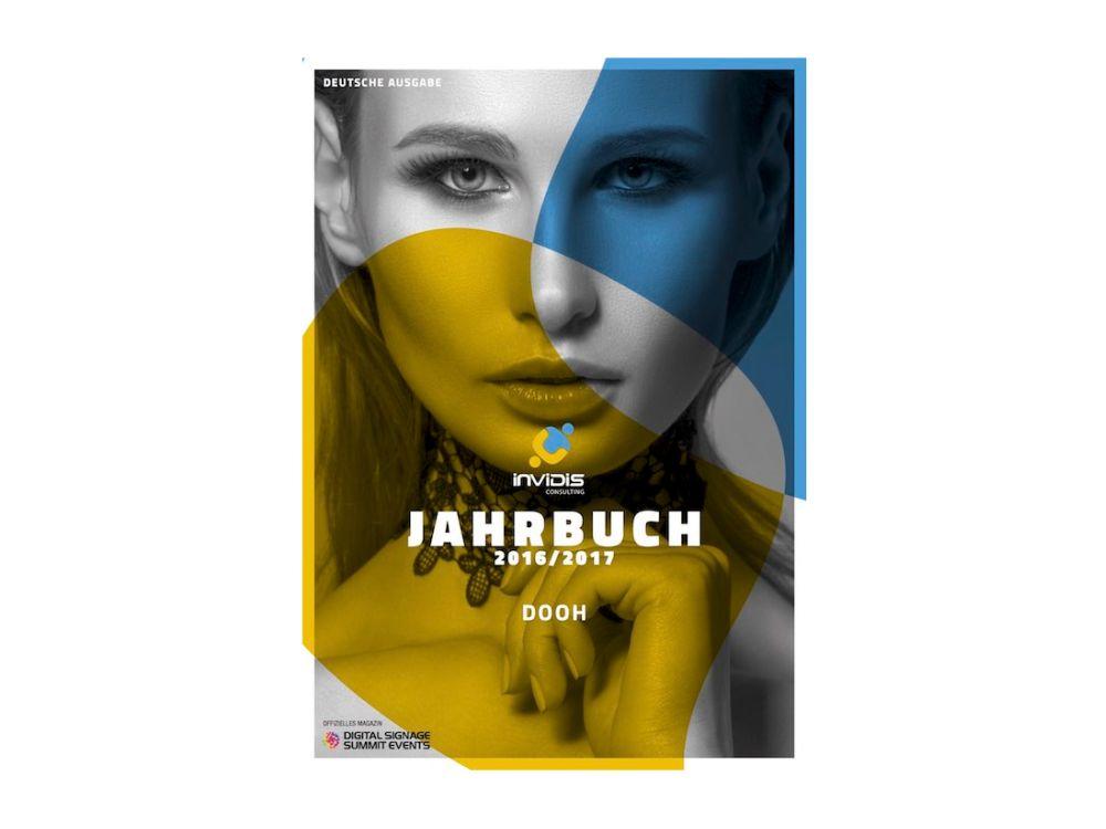 Cover des invidis Jahrbuch DooH 2016/ 2017 (Grafik: invidis)