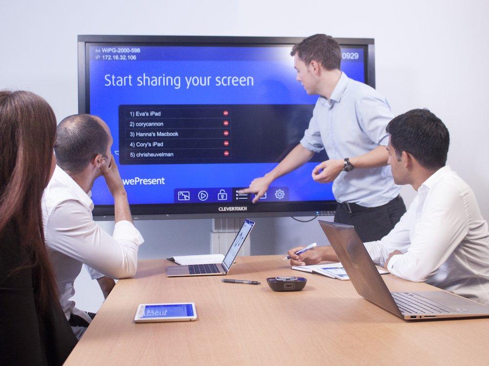 Interaktives Präsentationssystem von wePresent im Einsatz (Foto: wePresent)