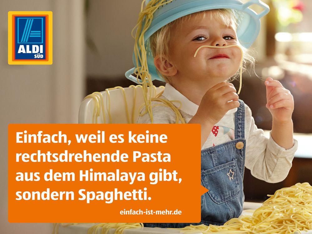 """Motiv aus Aldis erster gemeinsamer Kampagne """"Einfach ist mehr"""" (Foto: Aldi Süd)"""