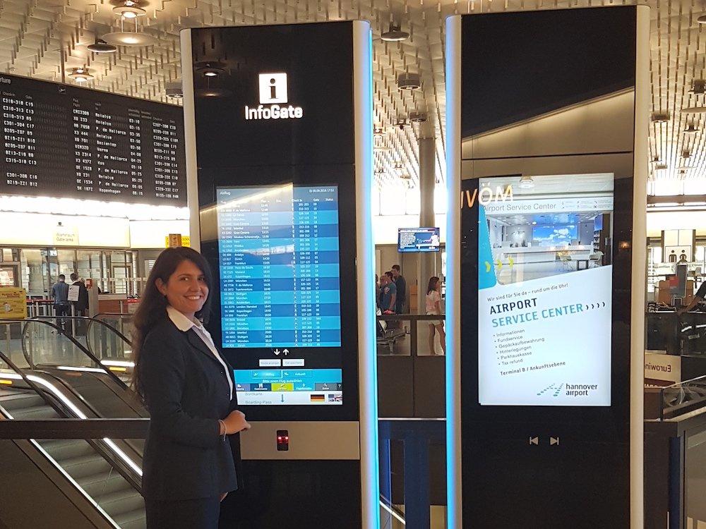 Neue InfoGate Stelen am Airport Hannover (Foto: Flughafen Hannover-Langenhagen GmbH)