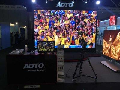 Neuer 8K 24 Bit HDR Screen aus der MXC-Serie auf der IBC 2016 (Foto: Aoto)